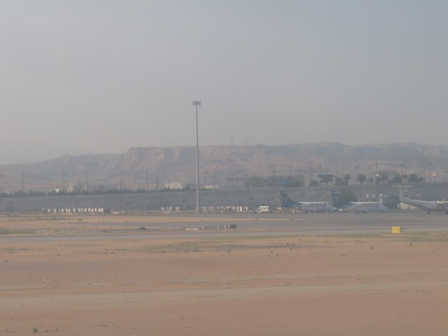 Out on the tarmac at Muscat Airport