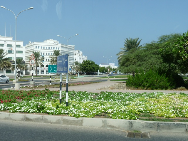 Part of Shatti, the diplomatic section of Muscat